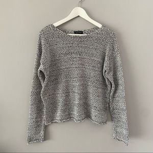 Lord and Taylor crew neck knit top size small